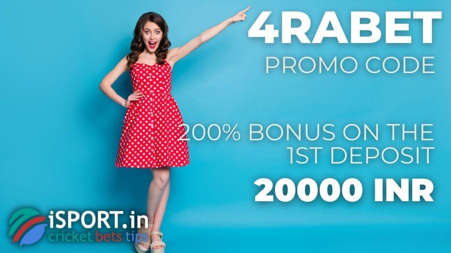 4rabet Promo Code - 200% Bonus up to 20000 INR