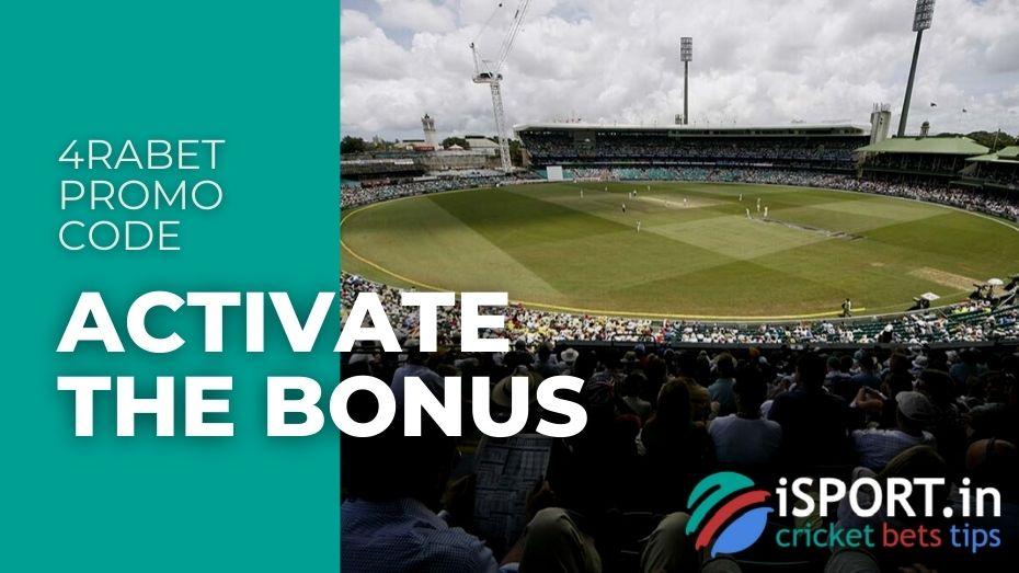 4rabet Promo Code - Activate the Bonus