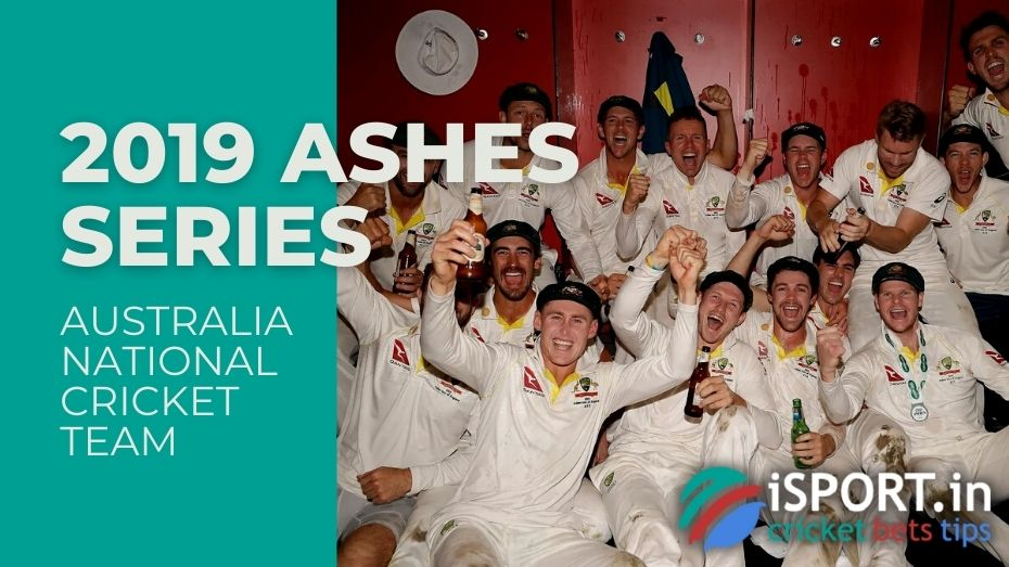 Australia National Cricket Team - Winners of the Ashes Series 2019 (cricket between England and Australia)
