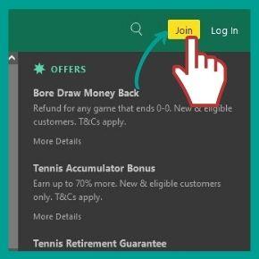 Bet365 Bonus Code - Open the Bet365 registration