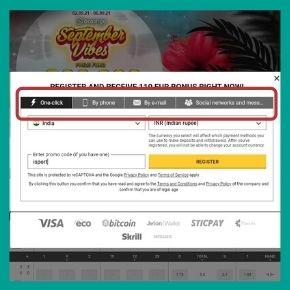 BetAndYou Promo Code - Choose the BetAndYou registration method