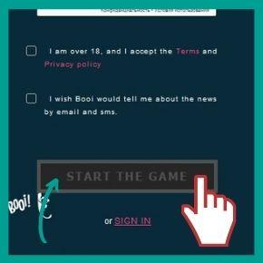 Booi Bonus Code - Complete the registration