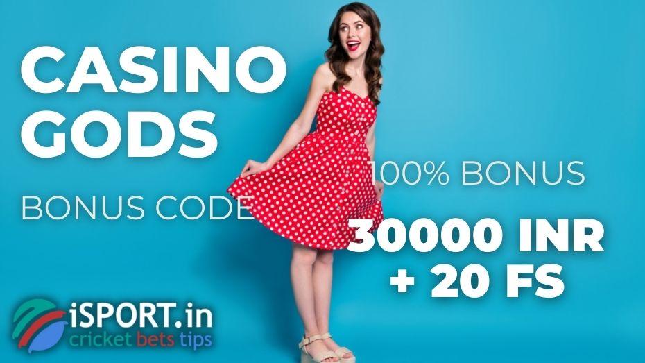 Casino Gods Bonus Code after registration