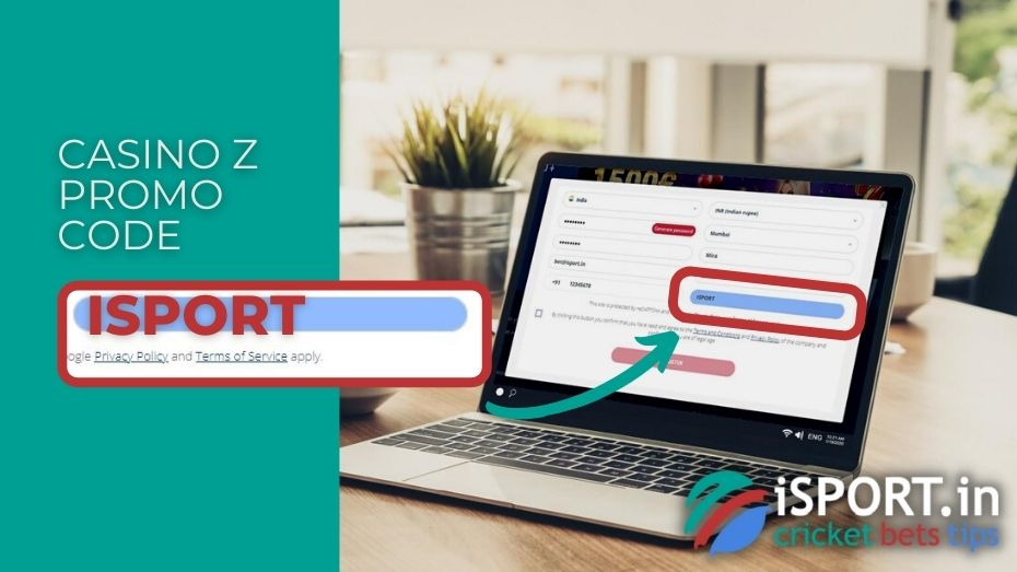Casino Z Promo Code: Enter ISPORT in the field