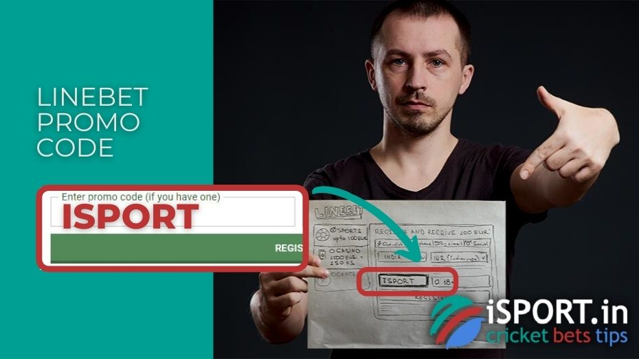 Linebet Promo Code: Enter ISPORT in special field