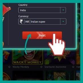 PiUp Promo Code - Click the Next button
