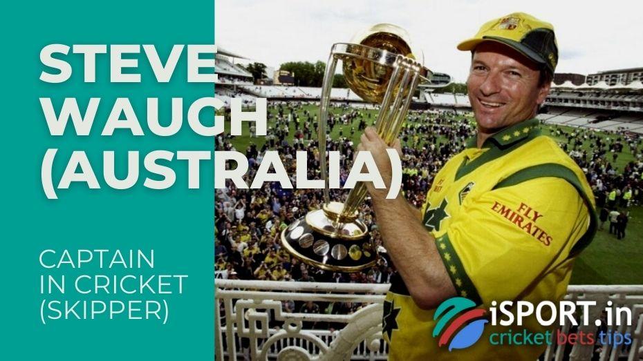 Steve Waugh - legendary captain of the Australian national cricket team from 1997 to 2004