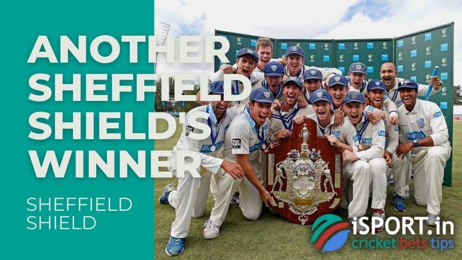 Another Sheffield Shield's winner