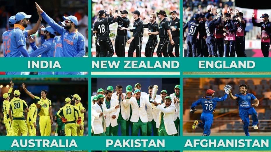 TOP-6 cricket teams